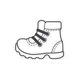 Icono de los zapatos que acampa, zapatos hikking Fotografía de archivo libre de regalías