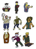 Icono de los zombis de la historieta Fotografía de archivo