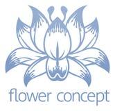 Icono de Lotus Flower Floral Design Concept Imagen de archivo libre de regalías