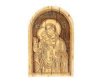 Icono de madera Foto de archivo