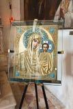 Icono de Madonna con el niño, isla de Burano, Venecia, Italia Fotos de archivo libres de regalías