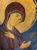 Icono de Maria de Virgen Fotografía de archivo