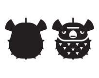 Icono de Marine Globefish o de los pescados del soplo ilustración del vector