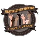Icono de Martin Luther King Day Hands Raised Imágenes de archivo libres de regalías