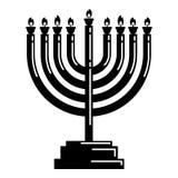Icono de Menorah, estilo simple ilustración del vector