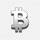 Icono de moda del vector del estilo 3d de Bitcoin libre illustration