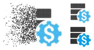 Icono de mudanza de Dot Halftone Bank Database Options ilustración del vector