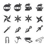 Icono de Ninja Imagen de archivo libre de regalías
