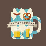 Icono de Oktoberfest Fotografía de archivo