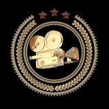Icono de oro de la leva de la película del alto vintage detallado libre illustration