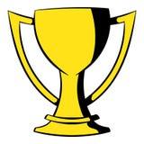 Icono de oro de la taza del trofeo, historieta del icono stock de ilustración