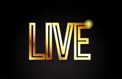 icono de oro del logotipo del diseño de la palabra del texto del oro vivo de la tipografía ilustración del vector