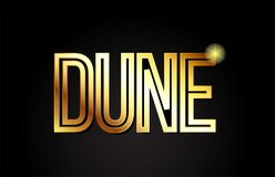 icono de oro del logotipo del diseño del oro de la tipografía del texto de la palabra de la duna ilustración del vector