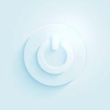 Icono de papel abstracto del vector del botón de encendido del estilo. Apague el símbolo. Imagen de archivo