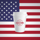 Icono de papel de la taza de café libre illustration