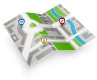 Icono de papel del mapa Fotos de archivo libres de regalías