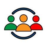 Icono de Persons Handshake Vector del ingeniero libre illustration