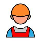 Icono de Persons Handshake Vector del ingeniero ilustración del vector