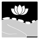 Icono de piedra caliente del masaje del vector Fotos de archivo libres de regalías