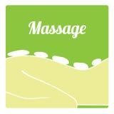 Icono de piedra caliente del masaje del vector Imágenes de archivo libres de regalías