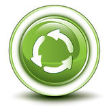 Icono de reciclaje ambiental Imagen de archivo