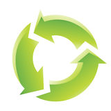 Icono de reciclaje verde Fotos de archivo