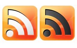 Icono de Rss Foto de archivo libre de regalías