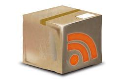 ICONO DE RSS Imágenes de archivo libres de regalías