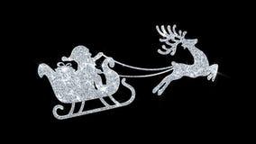 Icono de salto del centelleo del vuelo del reno del ornamento de la Navidad stock de ilustración