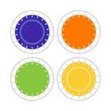 Icono de salto del trampol?n de la visi?n superior Logotipo plano para el parque del trampol?n Deporte activo sano ilustración del vector