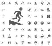 Icono de salto Iconos determinados del vector del ejemplo del deporte Sistema de 48 iconos del deporte Imagen de archivo libre de regalías