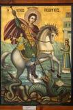 Icono de San Jorge y del dragón Fotos de archivo libres de regalías
