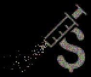 Icono de semitono de desaparición ligero del negocio de la droga del pixel libre illustration