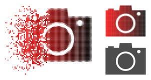 Icono de semitono de desintegración de la cámara de la foto de Pixelated libre illustration