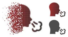 Icono de semitono destrozado del estornudo de Pixelated libre illustration
