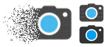 Icono de semitono punteado disipado de la cámara de la foto libre illustration