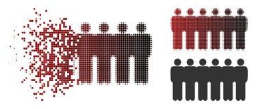 Icono de semitono quebrado del Demographics de la gente de Pixelated ilustración del vector