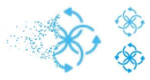 Icono de semitono quebrado de la rotación del nudo de Pixelated libre illustration