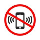 Icono de sonido del smartphone Teléfono móvil que suena o que vibra el icono plano para los apps o las páginas web libre illustration