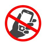 Icono de sonido del smartphone Teléfono móvil que suena o que vibra el icono plano para los apps o las páginas web stock de ilustración