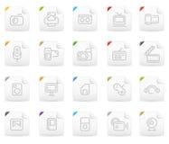 Icono de Squaro fijado: Media y electrónica libre illustration