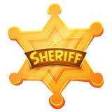 Icono de Star Gold Medal del mariscal del sheriff Imagen de archivo