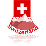 Icono de Suiza Fotografía de archivo libre de regalías