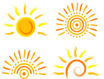 Icono de Sun ilustración del vector