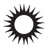 Icono de Sun Fotografía de archivo