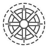 Icono de Sun, estilo del esquema ilustración del vector