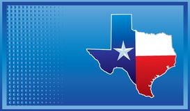 Icono de Tejas en bandera azul Imagen de archivo libre de regalías