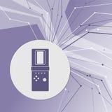 Icono de Tetris en fondo moderno abstracto púrpura Las líneas en todas las direcciones Con el sitio para su publicidad ilustración del vector