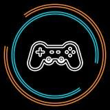 Icono de Thin Line Vector del regulador del juego simple stock de ilustración