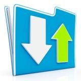 Icono de transferencia y que carga de los datos Foto de archivo libre de regalías